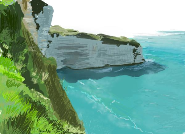Speed painting falaises