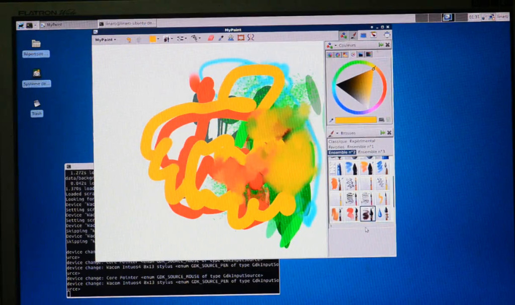 Mypaint v1.1 with Wacom tablet on cubieboard2, minimal 2d acceleration